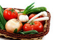 Free Wattled Basket With Vegetable Stock Image - 19281841