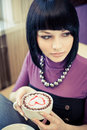 Free Young Woman In Cafe Royalty Free Stock Photography - 19288957