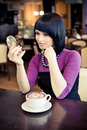 Free Young Woman In Cafe Stock Photography - 19289022