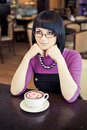 Free Young Woman In Cafe Stock Photo - 19289030