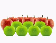 Free Red Apple Between Green Apples Royalty Free Stock Images - 19280049