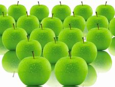 Free Green Apple Royalty Free Stock Photography - 19280467