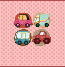 Cartoon Car Card Royalty Free Stock Images