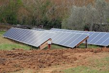 Free Solar Panels In A Feild Stock Photography - 19282032
