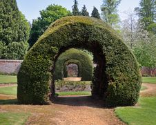 Free Row Of Archways In An English Walled Garden Royalty Free Stock Photos - 19282668