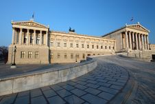 Free Austrian Parliament In Vienna Stock Photography - 19283572