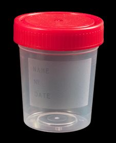 Free Empty Urine Sample Container Stock Photography - 19284132