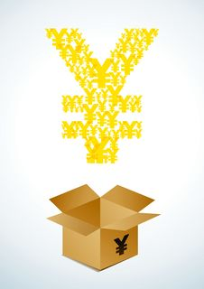 Free Box With Yen Stock Images - 19284984