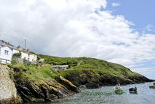 Free Portloe Harbour Royalty Free Stock Photography - 19285707