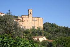 Free Tuscan Old Church Stock Image - 19286111