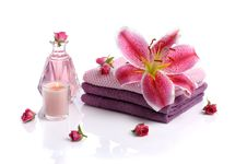 Free Spa With Rose Petals Royalty Free Stock Photo - 19286435