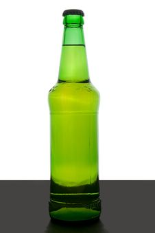 Green Beer Bottle Royalty Free Stock Photos