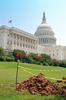 Free Construction On Capitol Hill Stock Images - 19286994