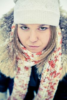 Free Woman In Wintry Coat Stock Photo - 19287750