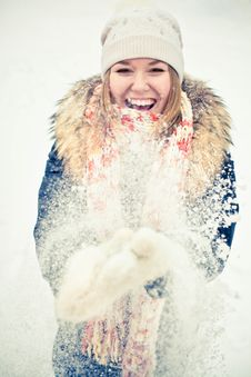 Free Woman In Wintry Coat Stock Image - 19287941