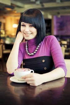 Free Young Woman In Cafe Stock Images - 19289014