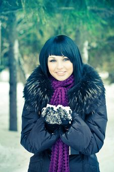Free Woman In Wintry Coat Royalty Free Stock Photos - 19289138