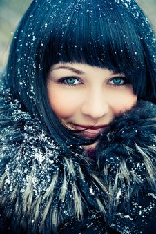 Free Woman In Wintry Coat Royalty Free Stock Photography - 19289177