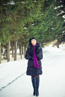 Free Woman In Wintry Coat Stock Images - 19289234