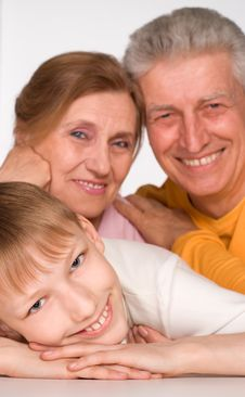 Free Grandson With His Grandparents Royalty Free Stock Photos - 19289338