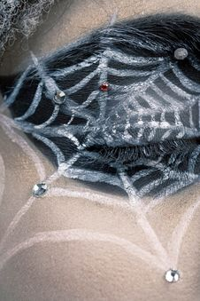 Free Woman With Spider Cobweb Royalty Free Stock Photos - 19289648