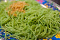 Free Green Noodle On Dish Royalty Free Stock Images - 19290909
