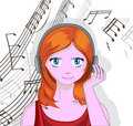 Free Girl With Headphones Royalty Free Stock Photos - 19294558