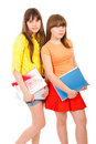 Free Two Schoolgirls Teenagers Stock Photo - 19296120
