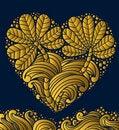 Free Gold Emblem Heart Stock Photo - 19297260