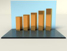 Five Gold Bars №1 Royalty Free Stock Photography