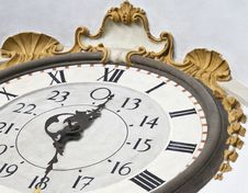 Free Close Up Of An Artistic Old Clock Stock Image - 19290391