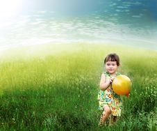 Free The Child Playing A Ball Royalty Free Stock Photo - 19291215