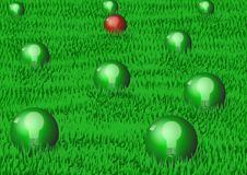 Green Bulbs Royalty Free Stock Image