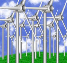 Free Wind Turbines Royalty Free Stock Images - 19291469