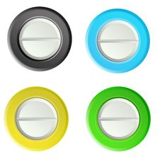 Free Set Buttons 1 Royalty Free Stock Image - 19292116