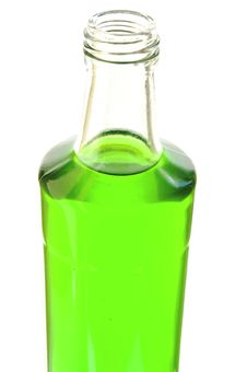 Free Lemonade Of Green Color In A Glass Bottle Stock Photos - 19292373