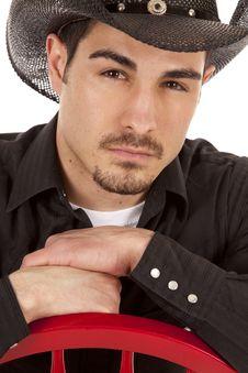 Cowboy Portrait Serious Royalty Free Stock Image
