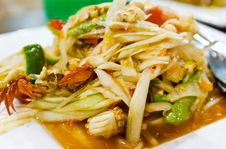 Thai Food / Somtum Royalty Free Stock Photography