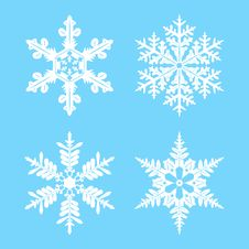 Free Set Of Snowflakes For Design Royalty Free Stock Photography - 19293637