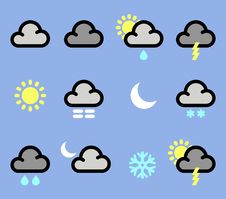 Free Weather Icons Stock Images - 19293674