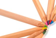 Free Colored Pencils Royalty Free Stock Photos - 19294348