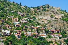 Turkish Houses In Alanya Royalty Free Stock Image