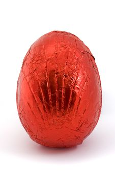 Free Red Easter Egg Isolated On White Royalty Free Stock Photos - 19295468