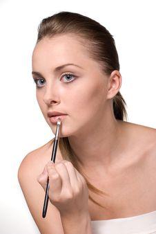 Free Beautiful Female Model Lipstick Stock Photography - 19295732