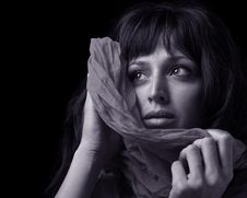 Free Woman With Scarf Stock Image - 19295871