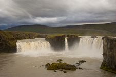 Godafoss Waterfalls Royalty Free Stock Images