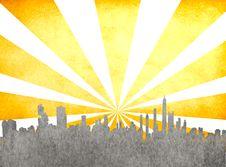 Free Grunge Image Of Cityscape Royalty Free Stock Image - 19297166