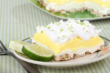 Lemon Lime Pudding Dessert Stock Photos
