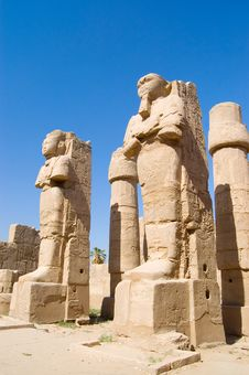 Free Statues In The Ancient Temple. Luxor Royalty Free Stock Photography - 19299997