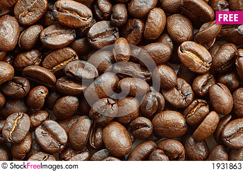 Free Coffee Beans Texture Stock Photos - 1931863